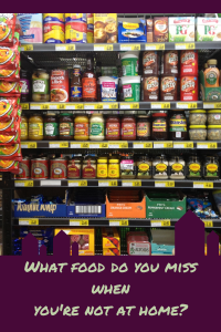 British food aisle
