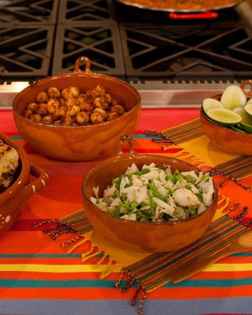 Garlicky habanero macadamia nuts
