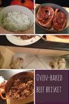 Oven-baked beef brisket