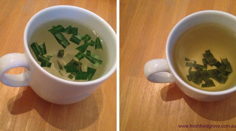 Mug of olive leaf tea