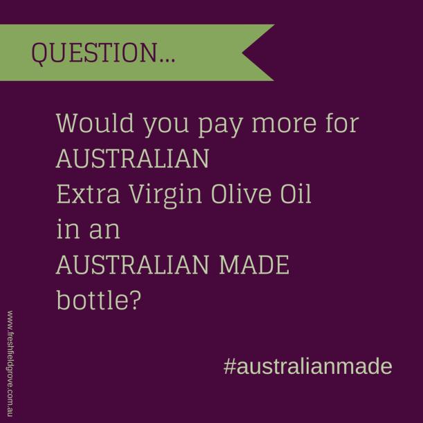 australianmade tasmanian olive oil evoo bottle