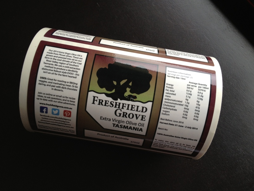extra virgin olive oil labels freshfield grove 2014