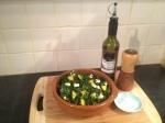 massaged kale salad serve evoo