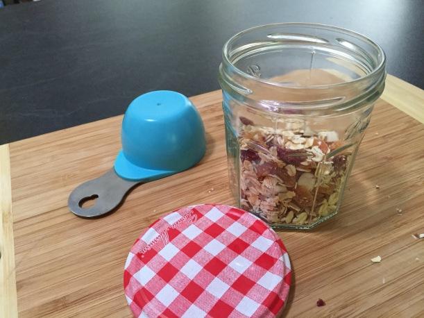 olive oil oatmeal jar