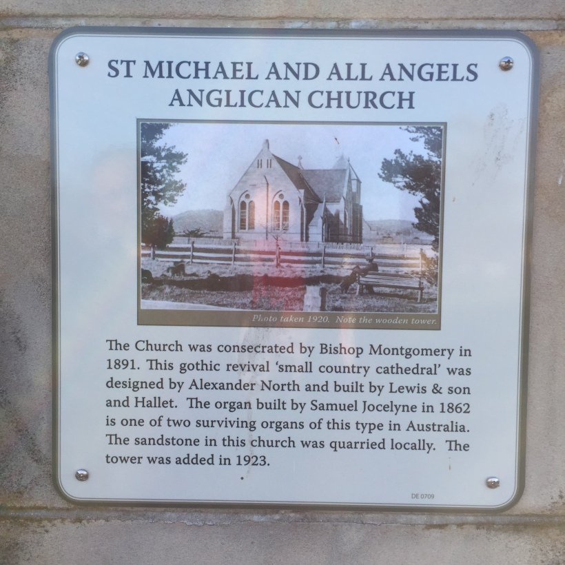 Bothwell church Tasmania plaque