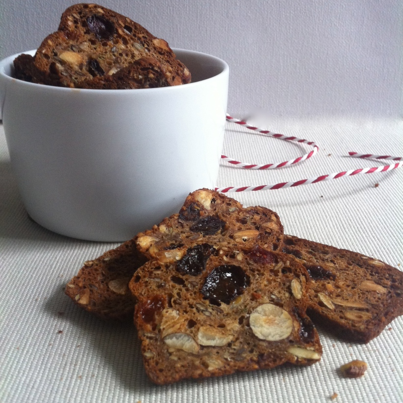 Fruit and Nut Sourdough Crackers | Selma's Table