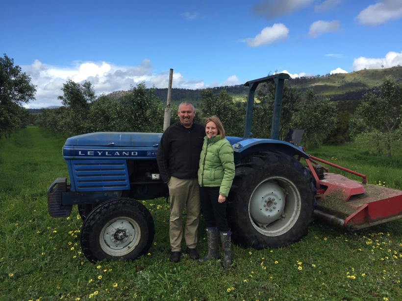 Fiona and Glenn at Freshfield Grove, Campania, Tasmania