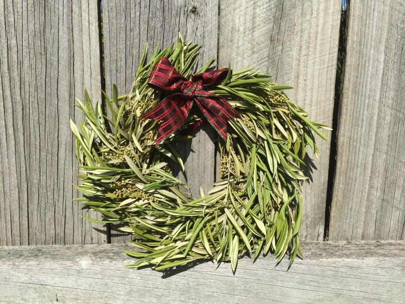 olive leaf Christmas wreath