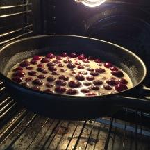 cherry-clafoutis-baking